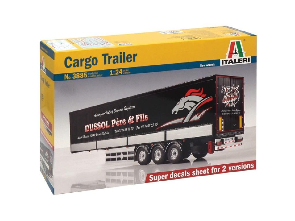 1/24 Plastikový model - návěs 3885 - CARGO TRAILER