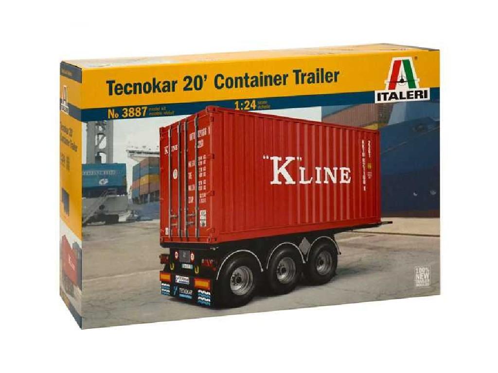 1/24 Plastikový model - návěs 3887 - TECNOKAR 20 CONTAINER TRAILER