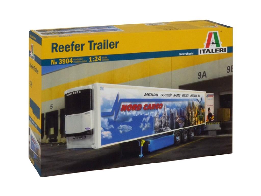 1/24 Plastikový model - návěs 3904 - REEFER TRAILER