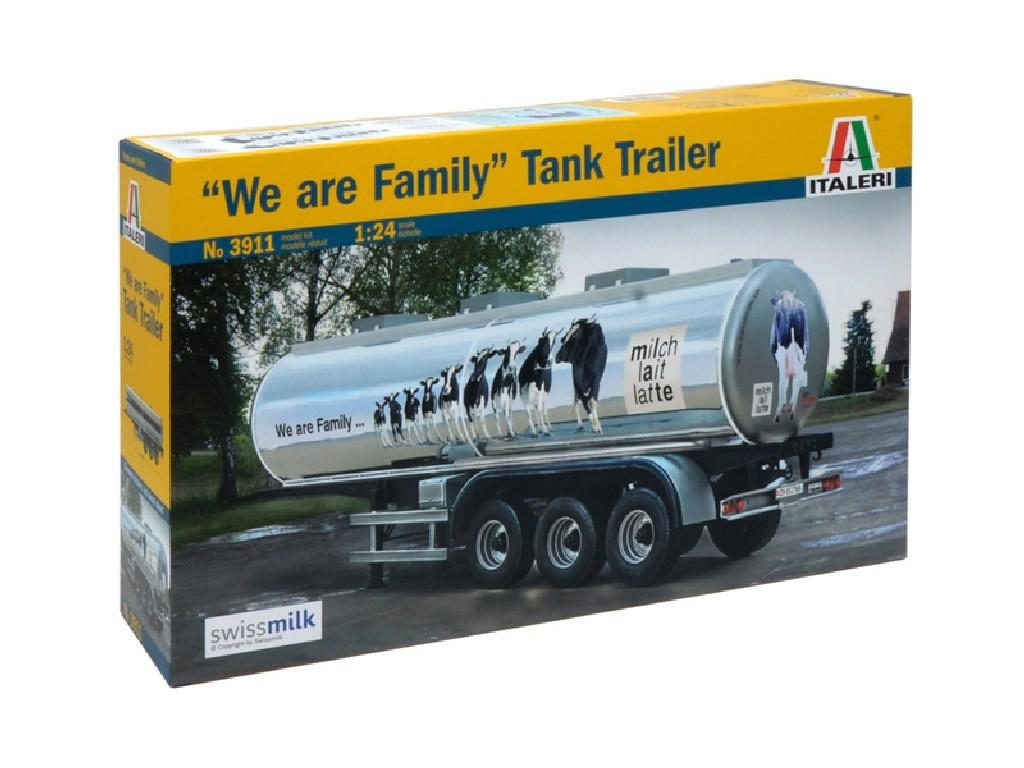 1/24 Plastikový model - návěs 3911 - CLASSIC TANK TRAILER We are family