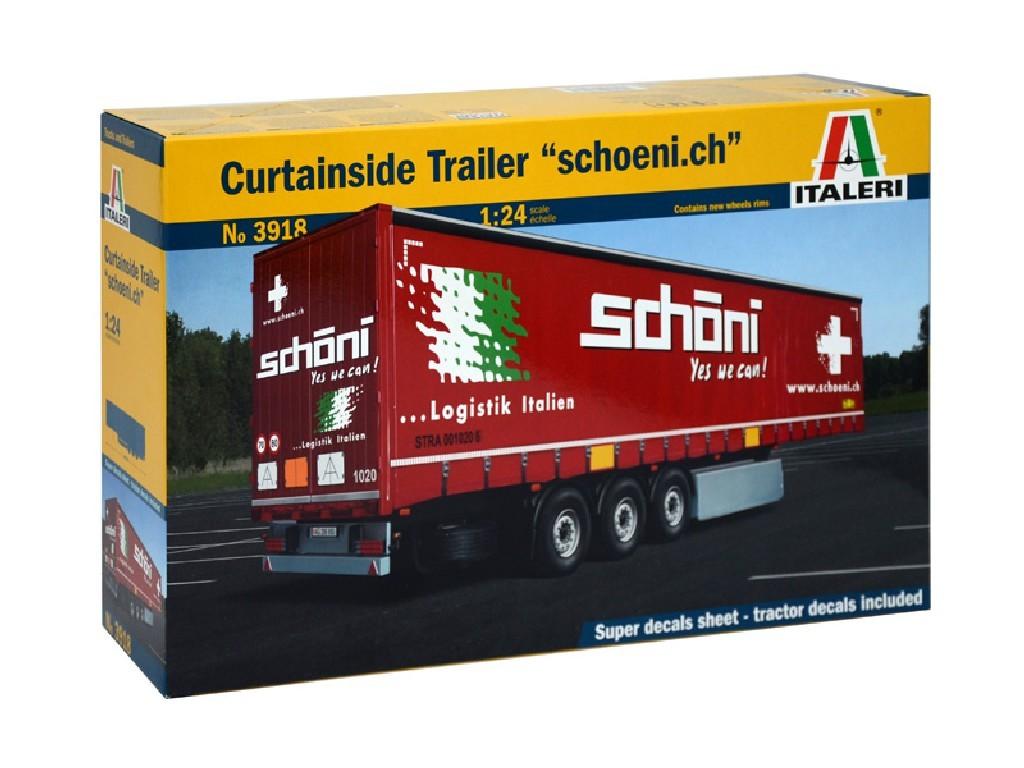 1/24 Plastikový model - návěs 3918 - Curtainside Trailer