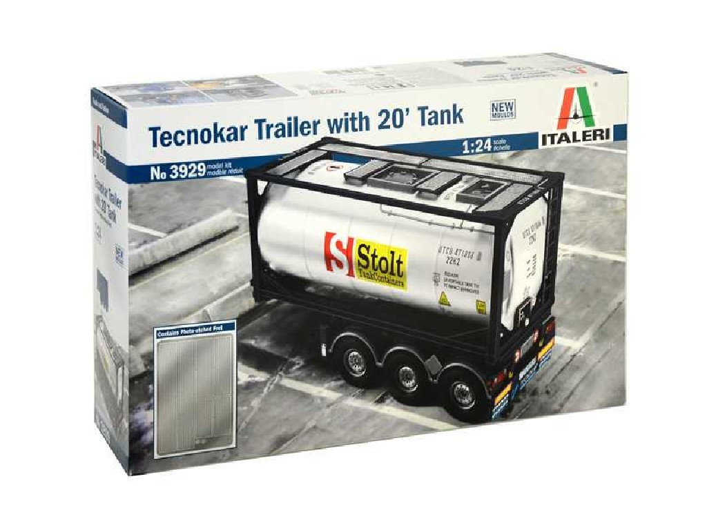 1/24 Plastikový model - návěs 3929 - TECNOKAR TRAILER WITH 20 TANK