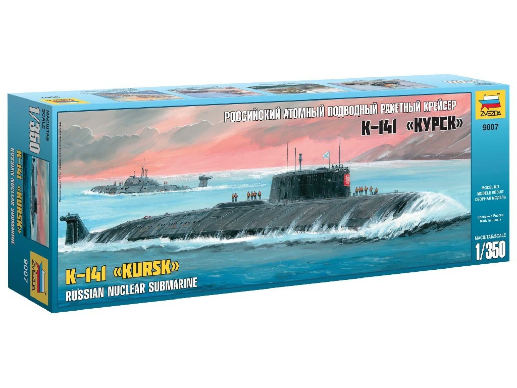 1/350 Plastikový model - ponorka 9007 - Nuclear Submarine APL Kursk