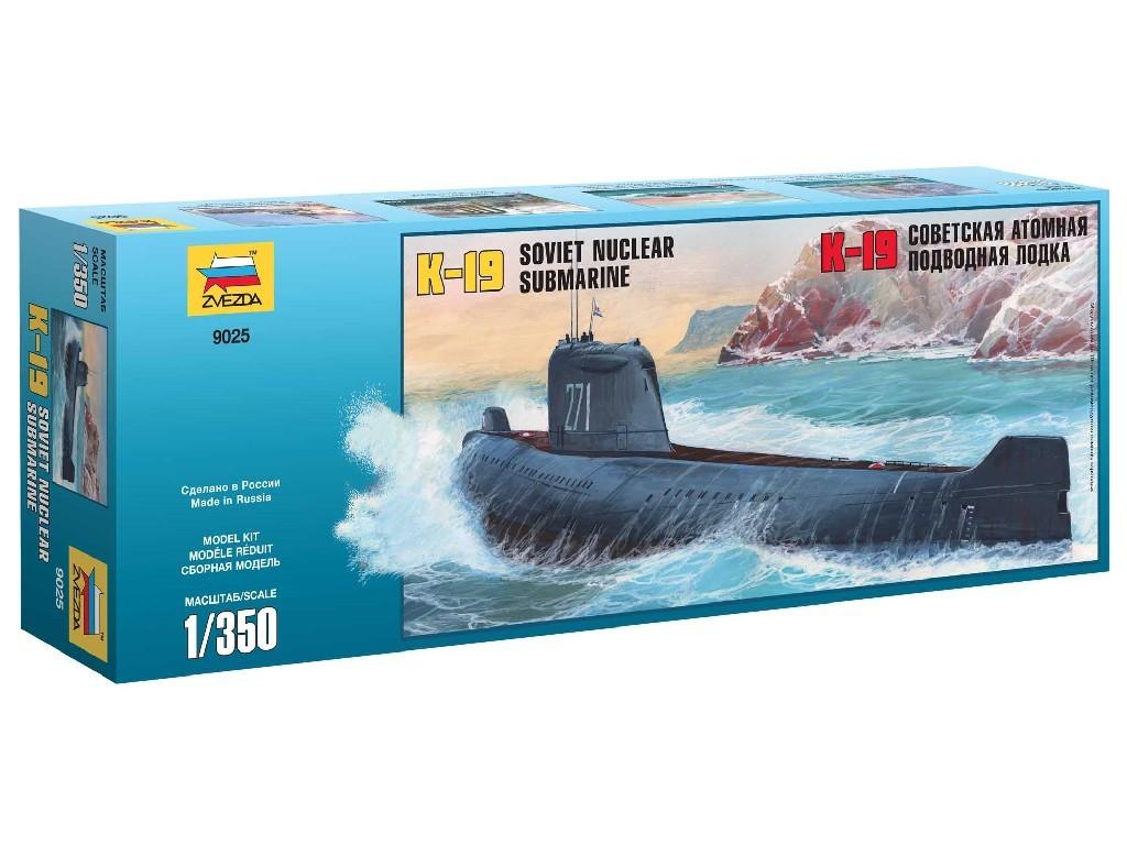 1/350 Plastikový model - ponorka 9025 - K-19 Soviet Nuclear Submarine Hotel Class