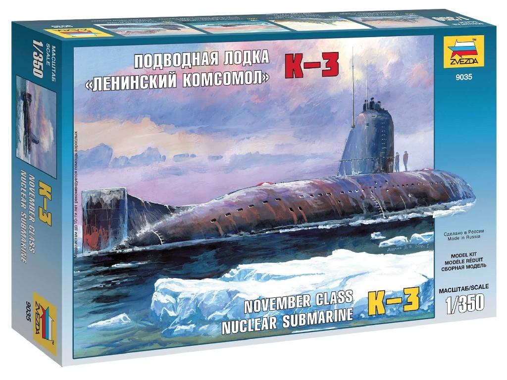 1/350 Plastikový model - ponorka 9035 - Nuclear Submarine K-3