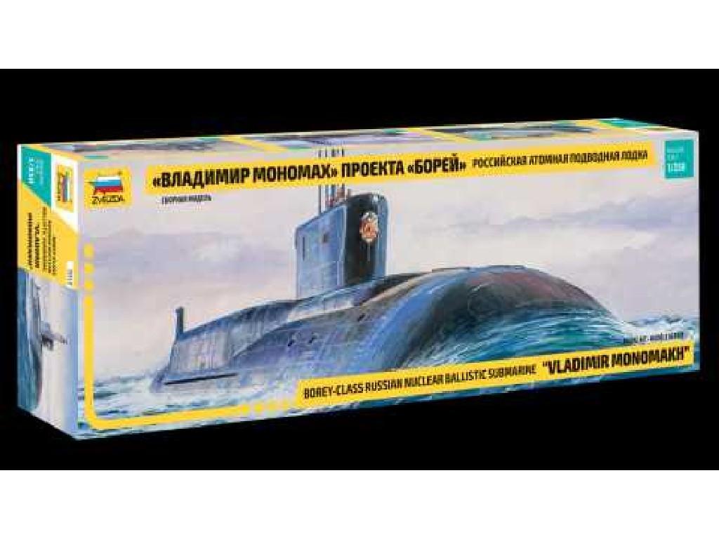 1/350 Plastikový model - ponorka 9058 - Borey-Class Nuclear Submarine VLADIMIR MONOMAKH