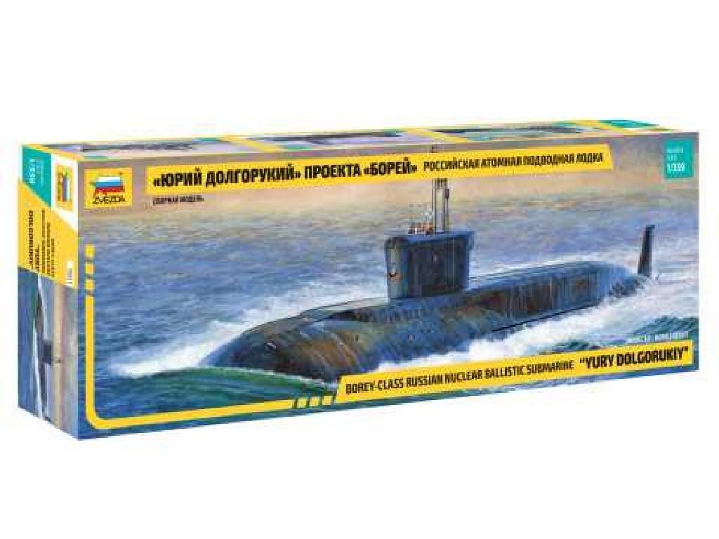 1/350 Plastikový model - ponorka 9061 - Nuclear Submarine Yury Dolgorukiy