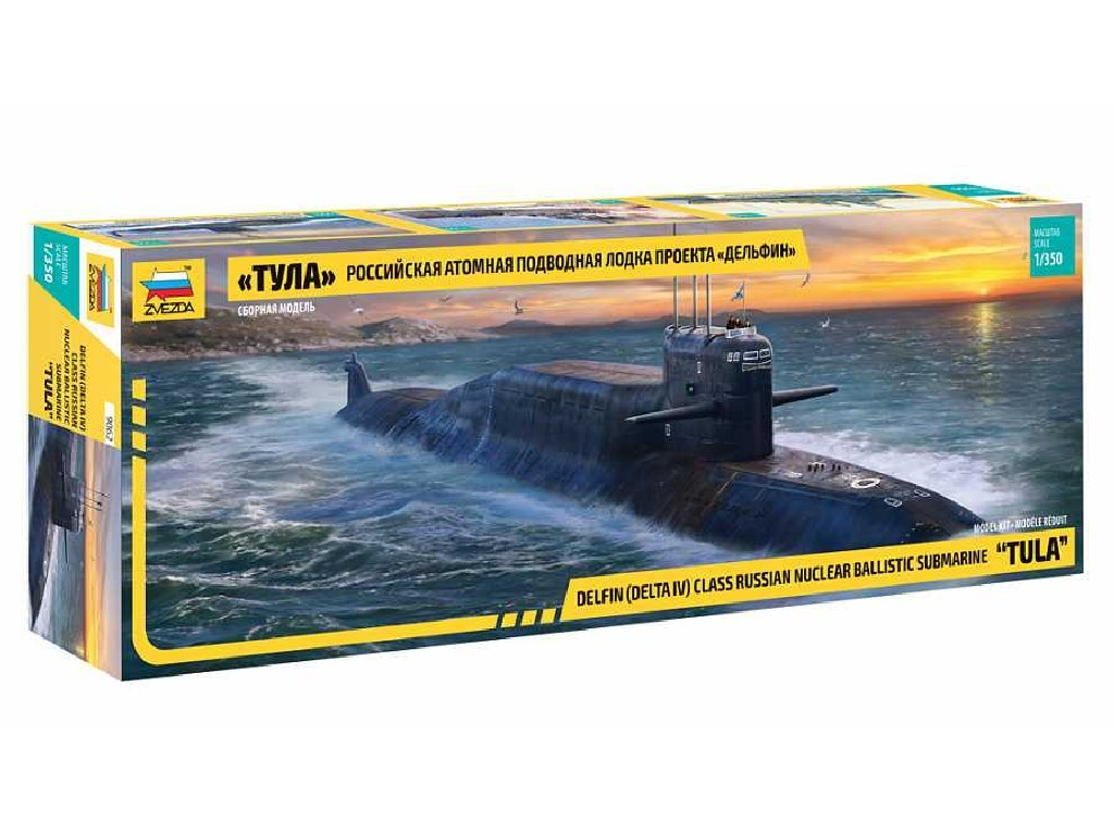 1/350 Plastikový model - ponorka 9062 - TulaSubmarine Delfin/Delta IV Class