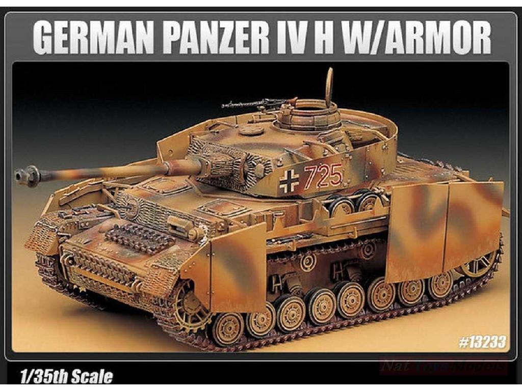 1/35 Plastikový model - tank 13233 - GERMAN PANZER IV H W/ARMOR
