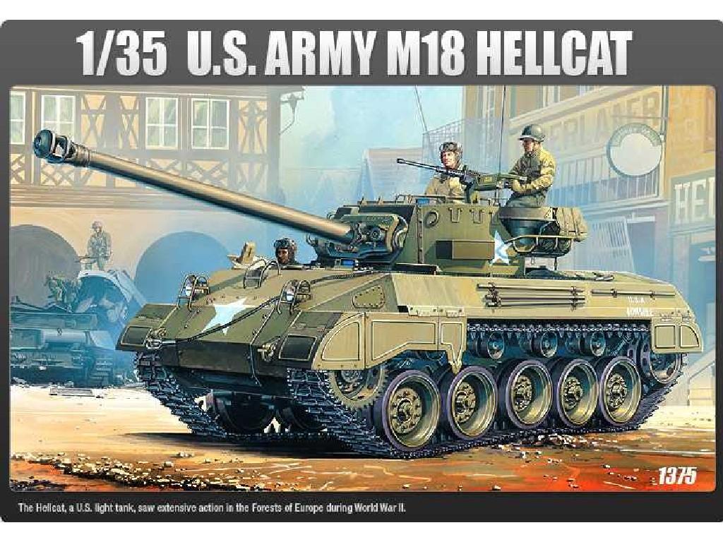 1/35 Plastikový model - tank 13255 - US ARMY M-18 HELLCAT