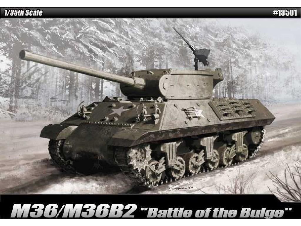 1/35 Plastikový model - tank 13501 - M36/M36B2 Battle of the Bulge