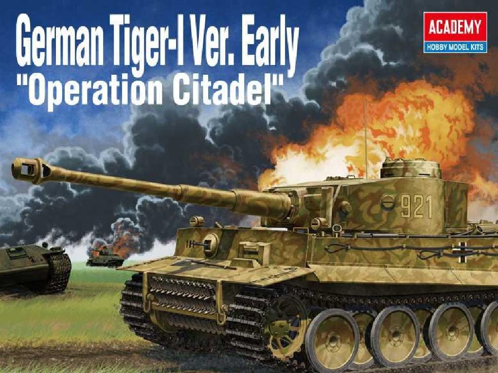 1/35 Plastikový model - tank 13509 - German Tiger-I Ver. EARLY Operation Citadel