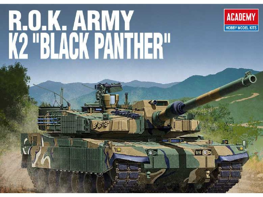 1/35 Plastikový model - tank 13511 - ROK ARMY K2 BLACK PANTHER