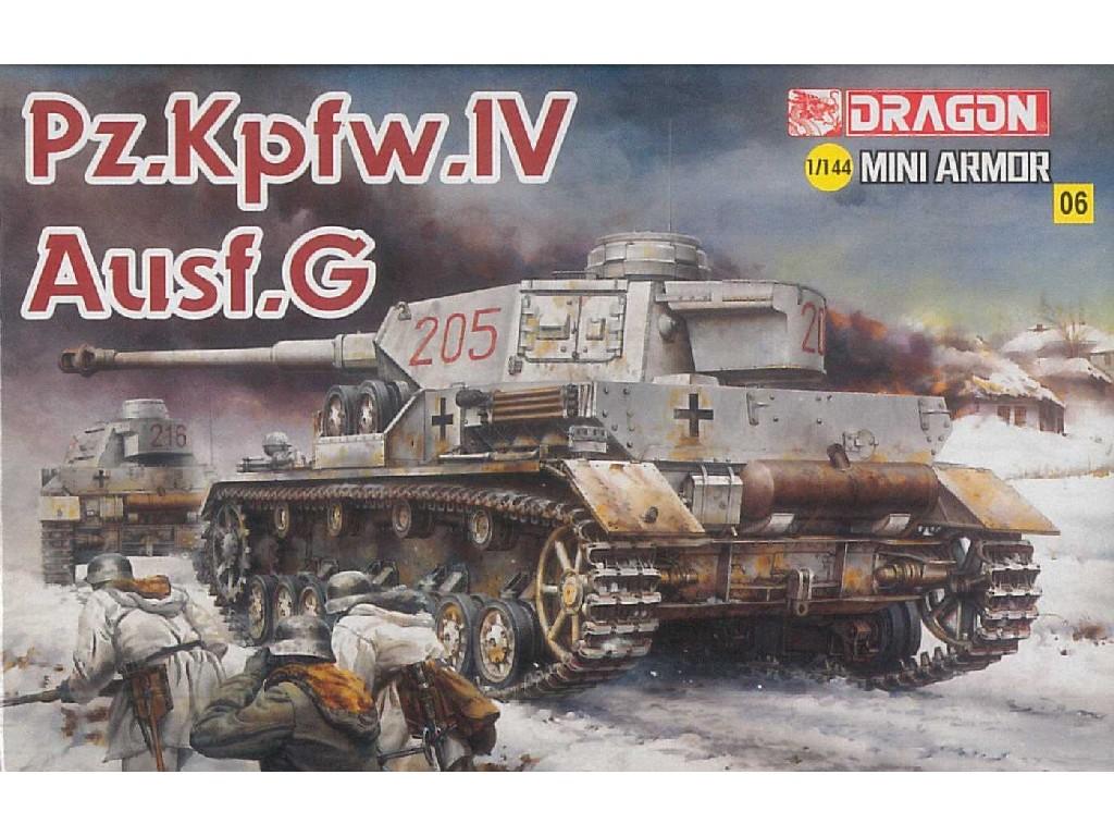 1/144 Plastikový model - tank 14110 - Pz.IV Ausf.G