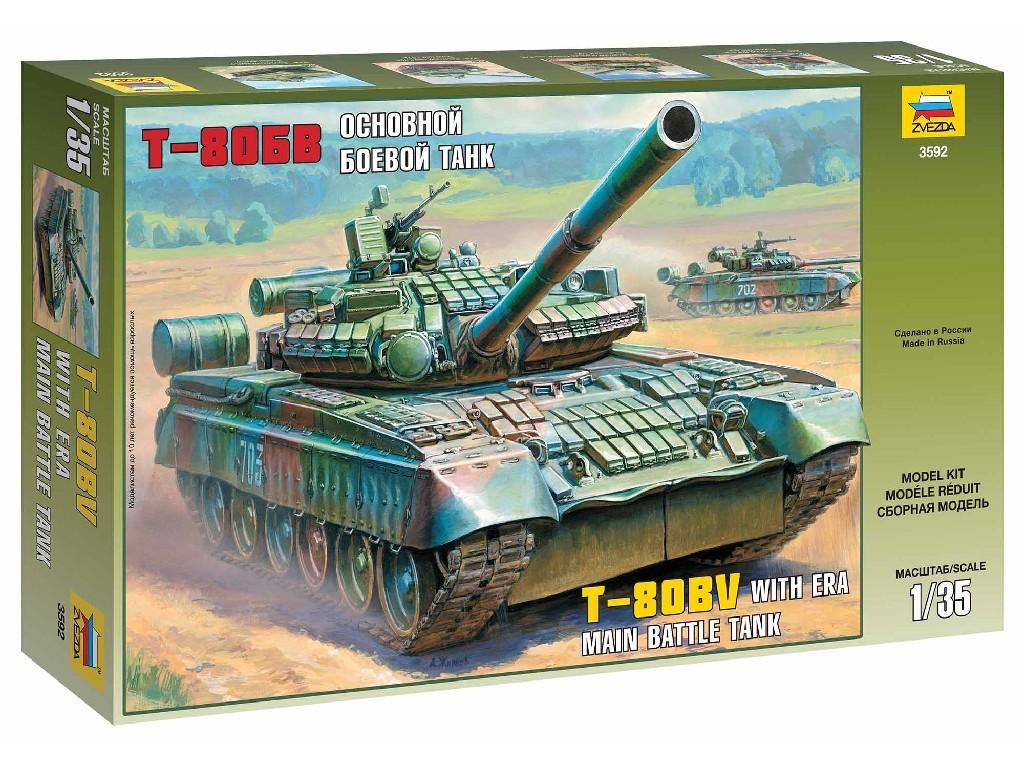 1/35 Plastikový model - tank 3592 - Russian Main Battle Tank T-80BV