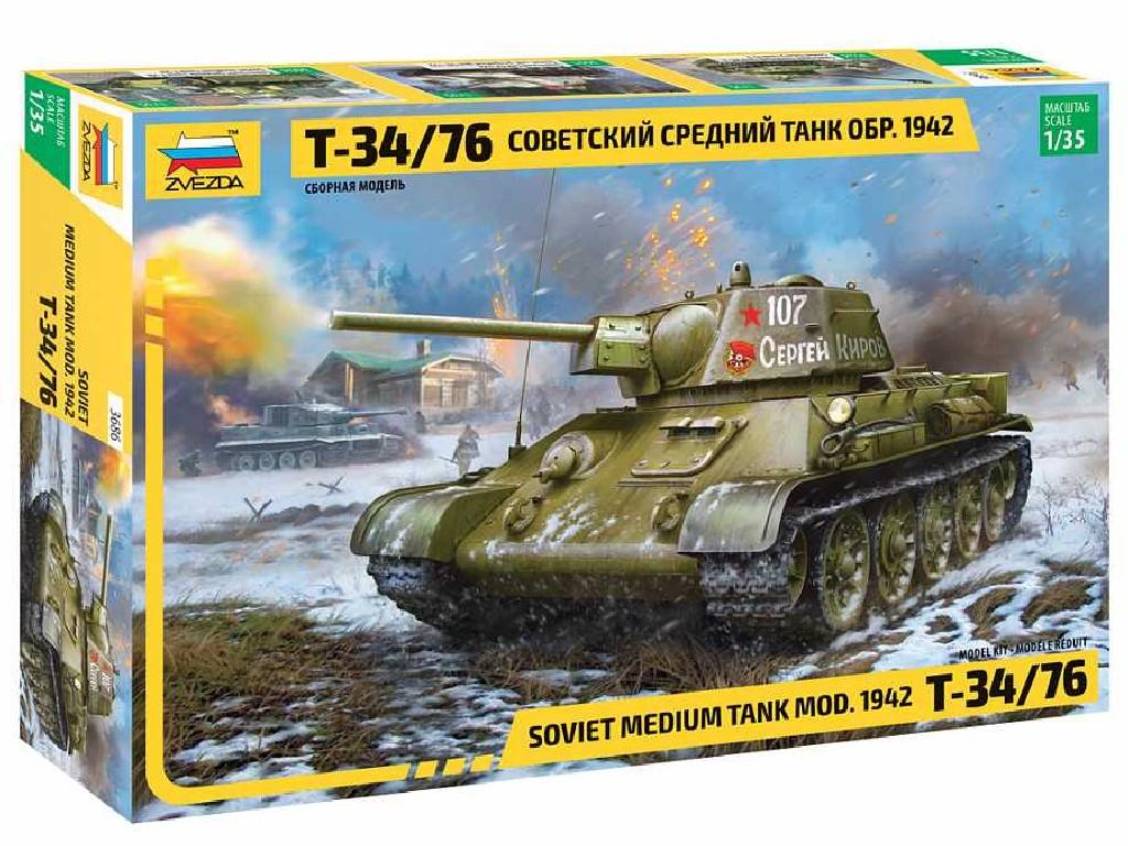 1/35 Plastikový model - tank 3686 - T-34/76 mod.1942