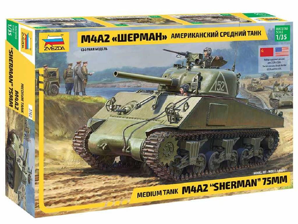 1/35 Model Kit tank 3702 - M4 A2 Sherman