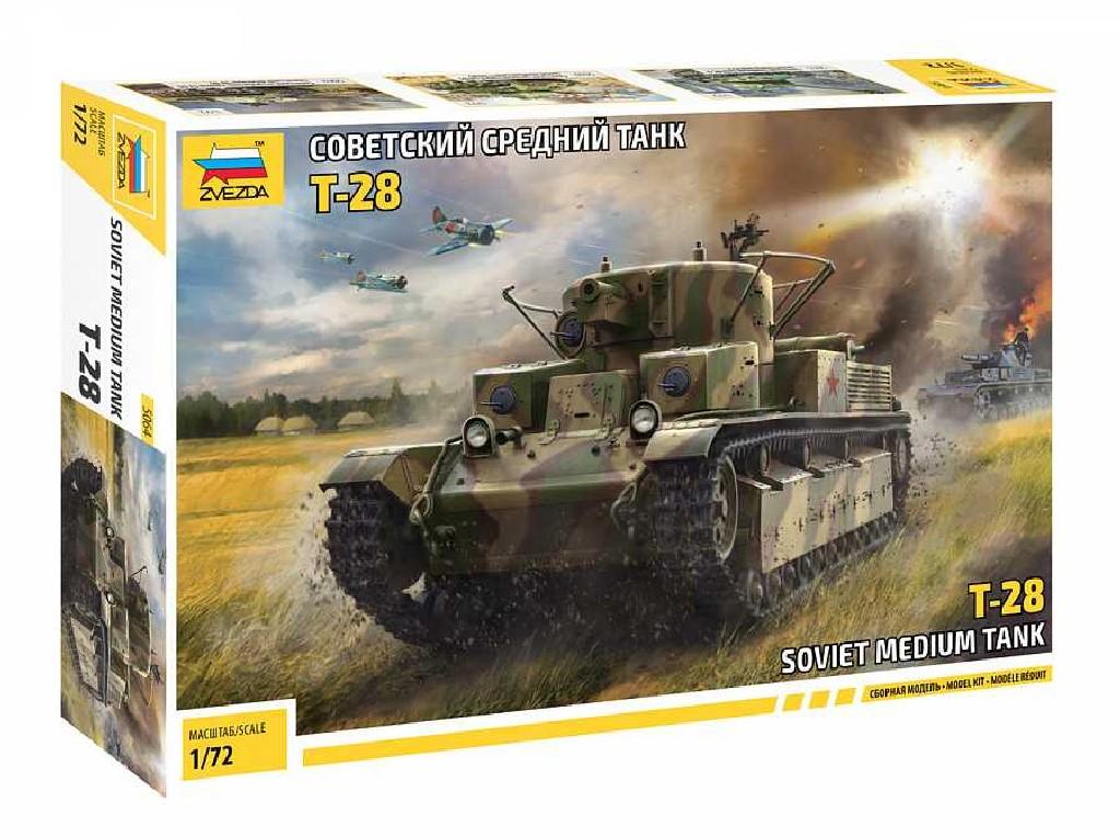 1/72 Plastikový model - tank 5064 - T-28 Soviet Tank