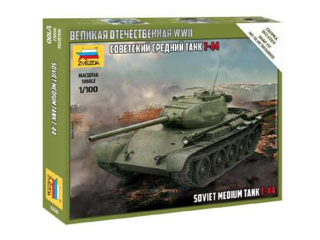 1/100 Plastikový model - tank 6238 - T-44 Soviet Tank