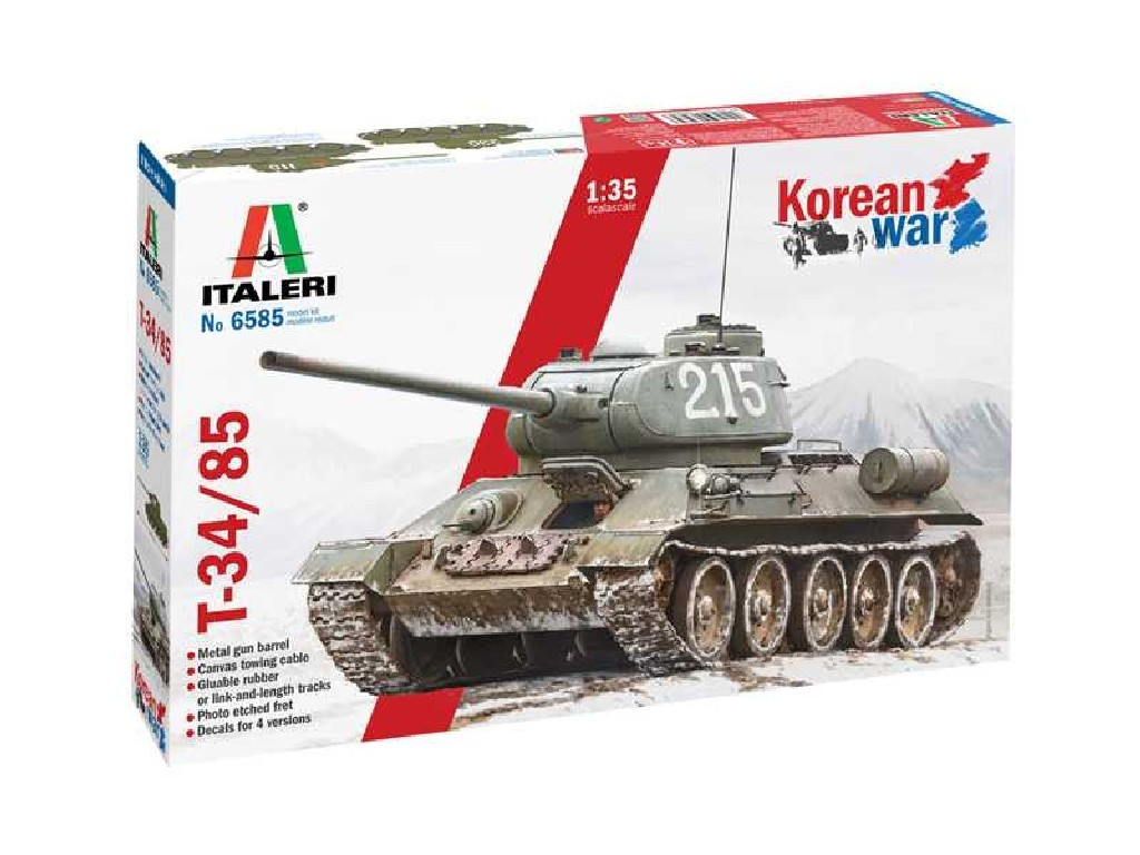 Italeri - tank 6585 - T-34/85 Korean War 1:35