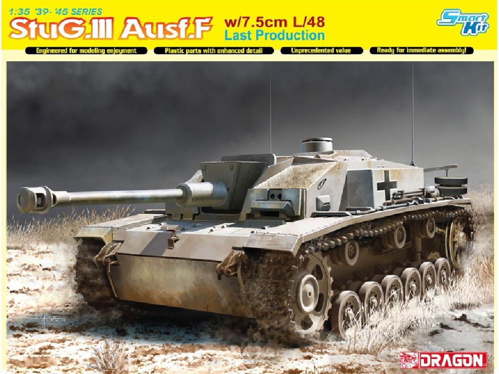1/35 Plastikový model - tank 6756 - StuG.III Ausf.F w/7.5cm L/48 Last Production (Smart Kit)
