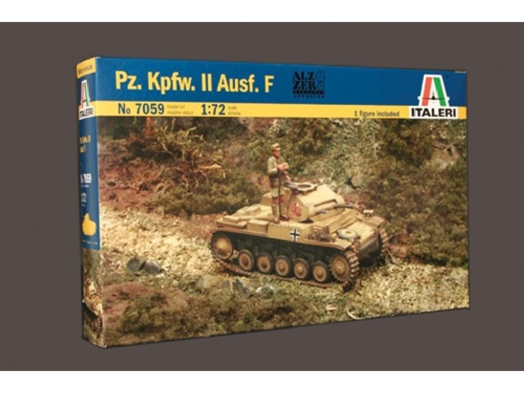 1/72 Plastikový model - tank 7059 - Pz.Kpfw. II Ausf. F