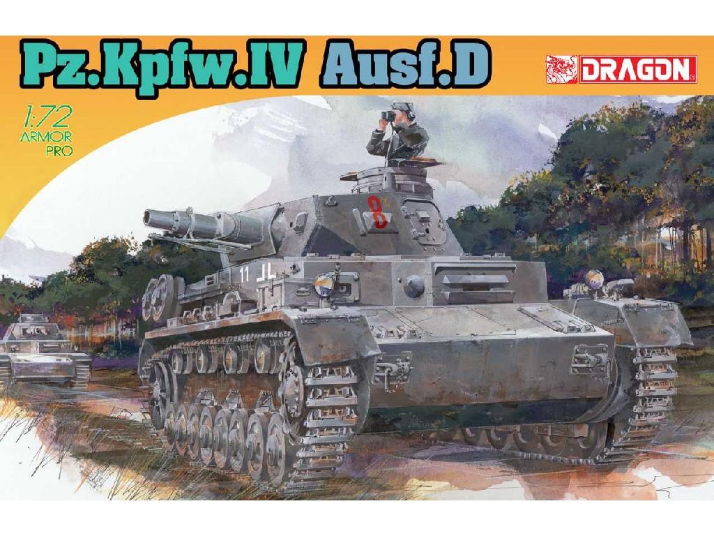 1/72 Plastikový model - tank 7530 - Pz.Kpfw.IV Ausf.D