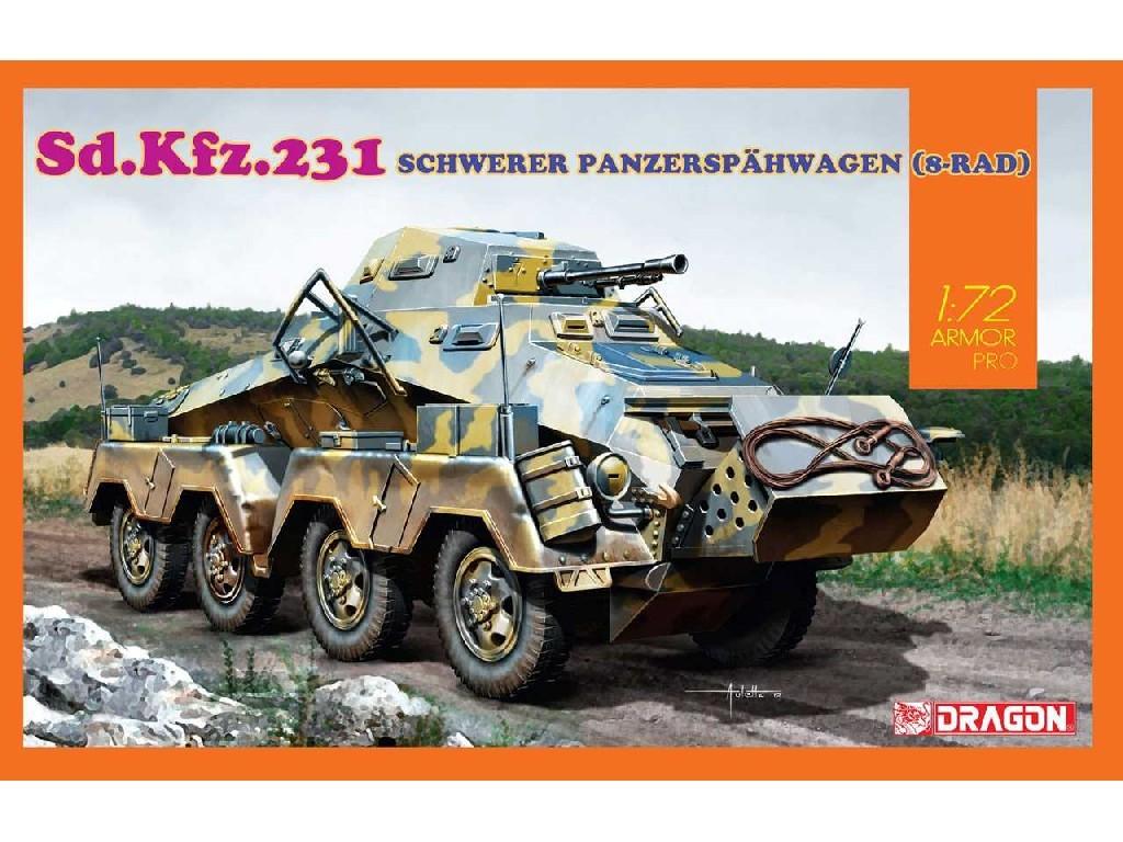 1/72 Plastikový model - tank 7577 - Sd.Kfz.231 SCHWERER PANZERSPÄHWAGEN (8-RAD)