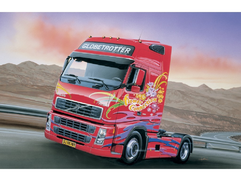 1/24 Plastikový model - truck 3821 - VOLVO FH16 GLOBETROTTER XL