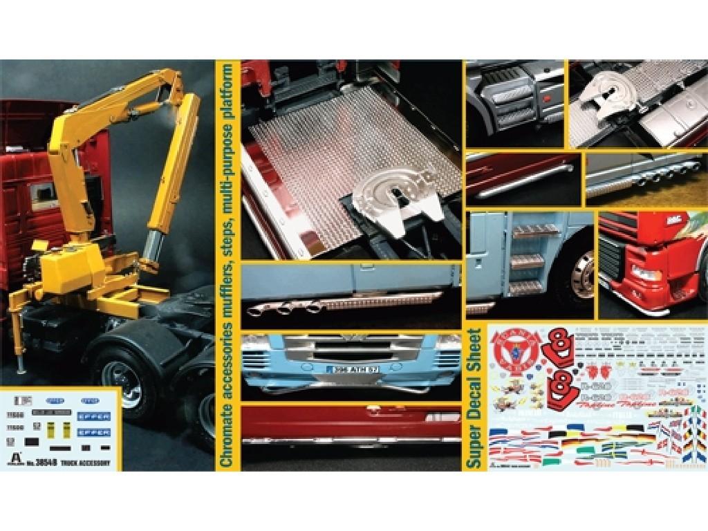 1/24 Plastikový model - truck 3854 - Truck Accessoires Set II