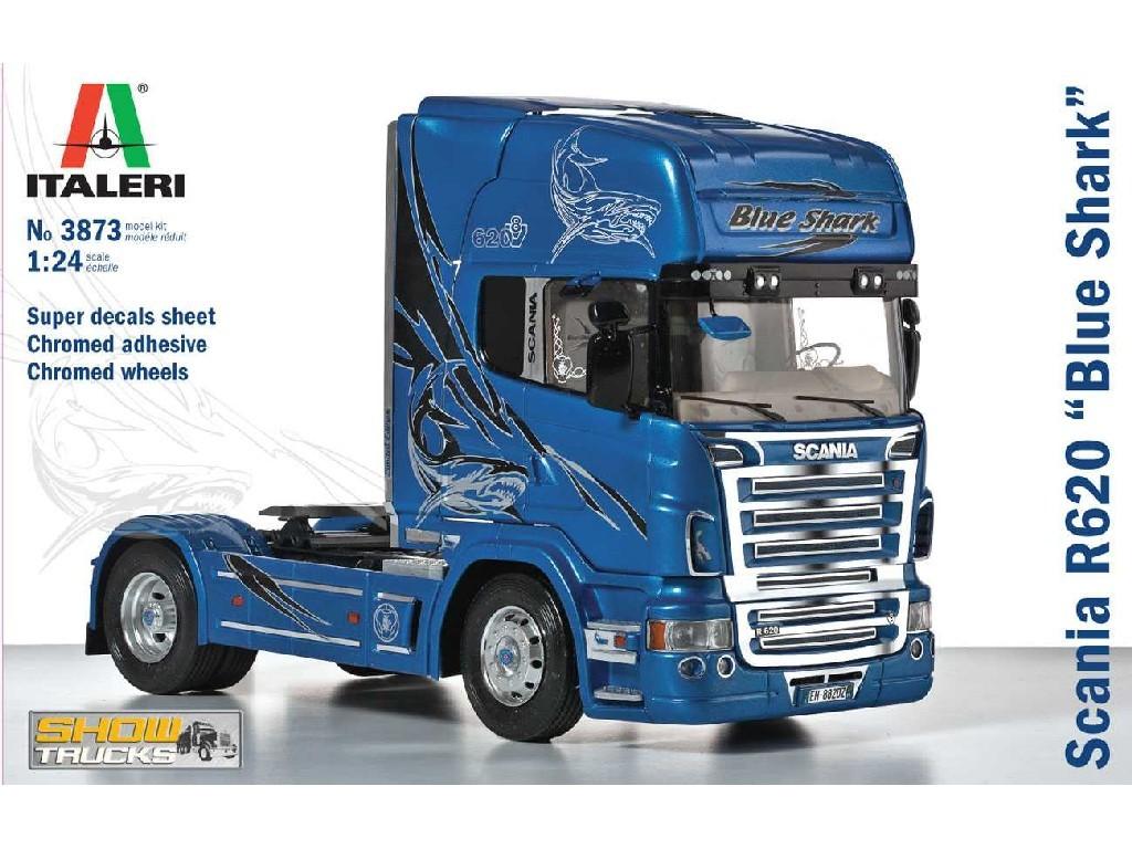 1/24 Plastikový model - truck 3873 - SCANIA R620 BLUE SHARK