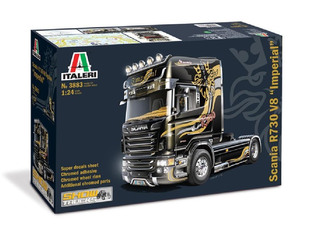 1/24 Plastikový model - truck 3883 - SCANIA R V8 TOPLINE IMPERIAL
