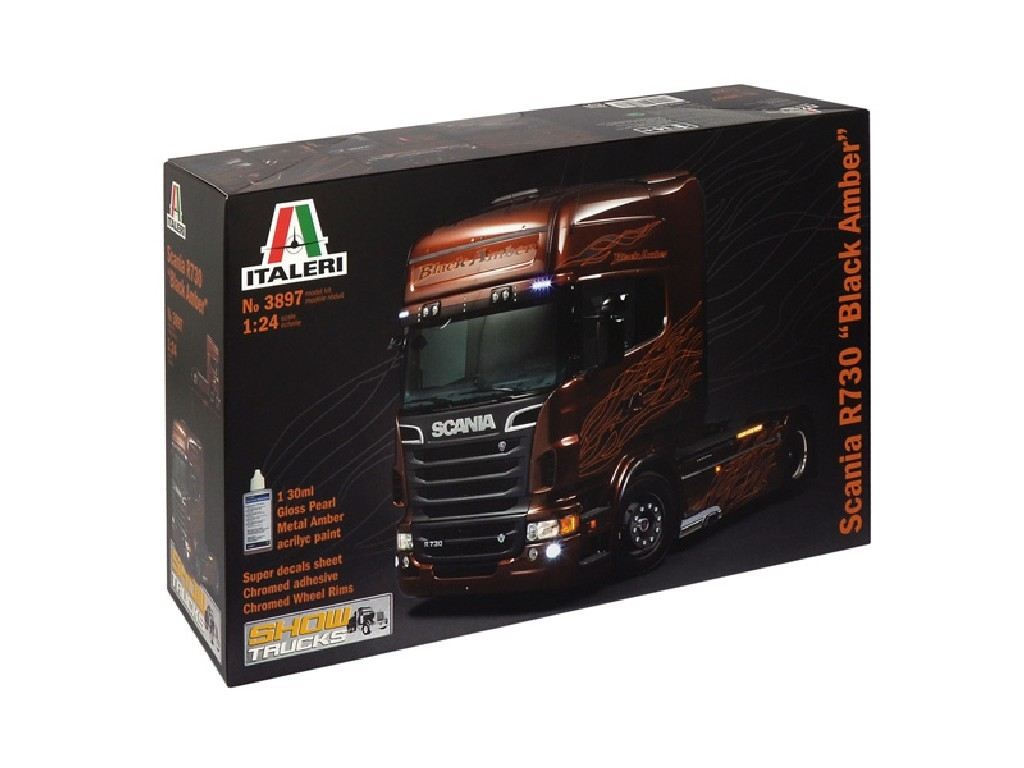 1/24 Plastikový model - truck 3897 - SCANIA R BLACK AMBER