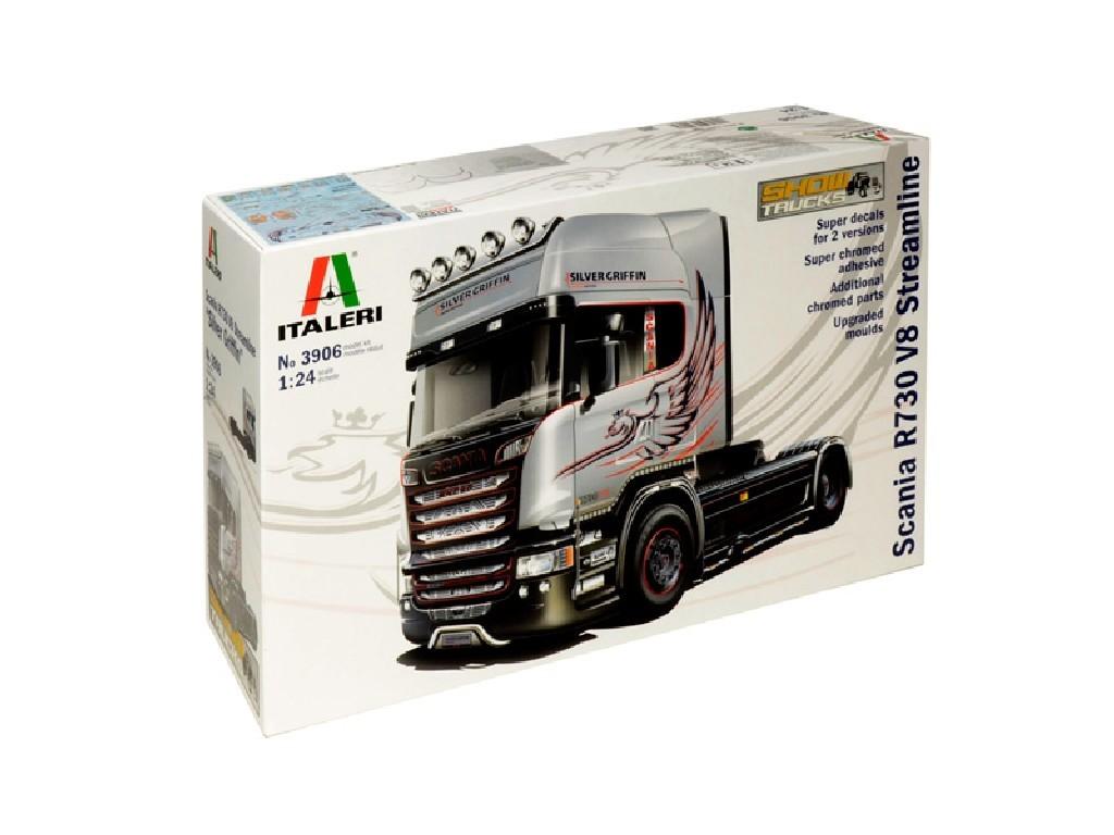1/24 Plastikový model - truck 3906 - SCANIA R730 STREAMLINE 4x2