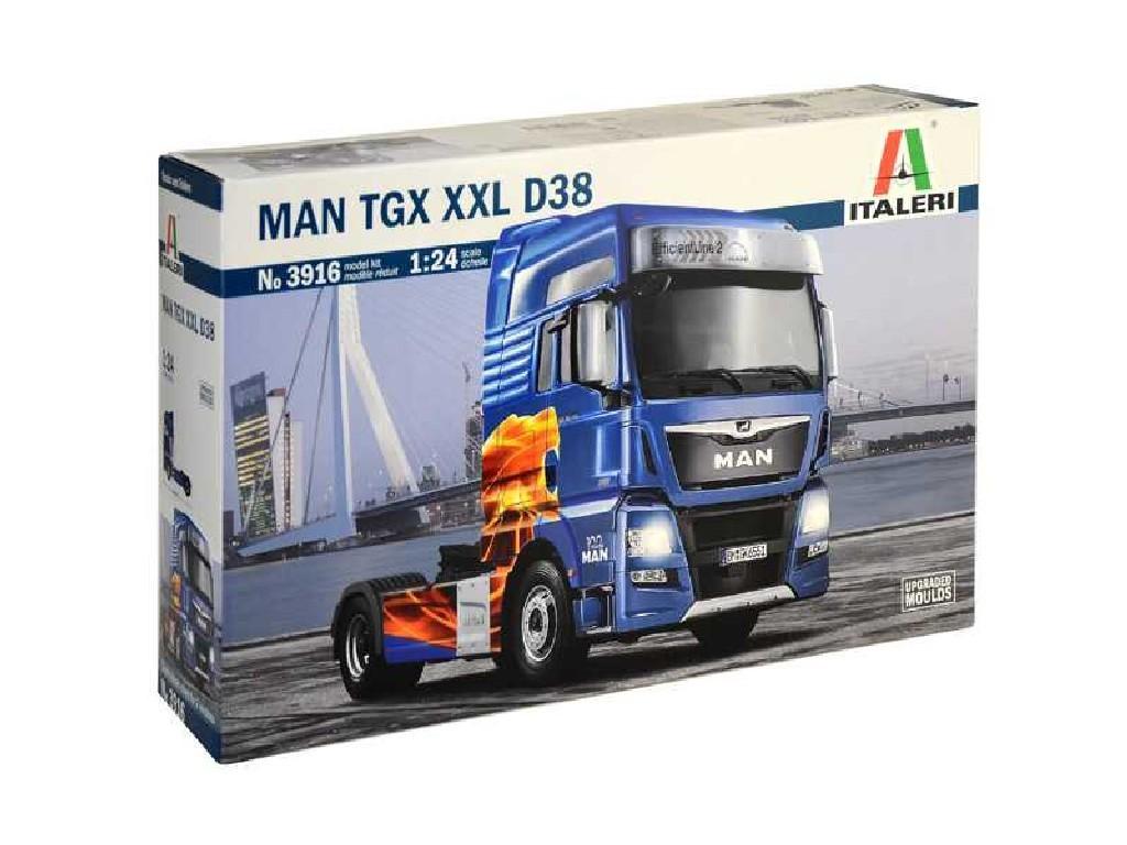 1/24 Plastikový model - truck 3916 - MAN TGX XXL D38