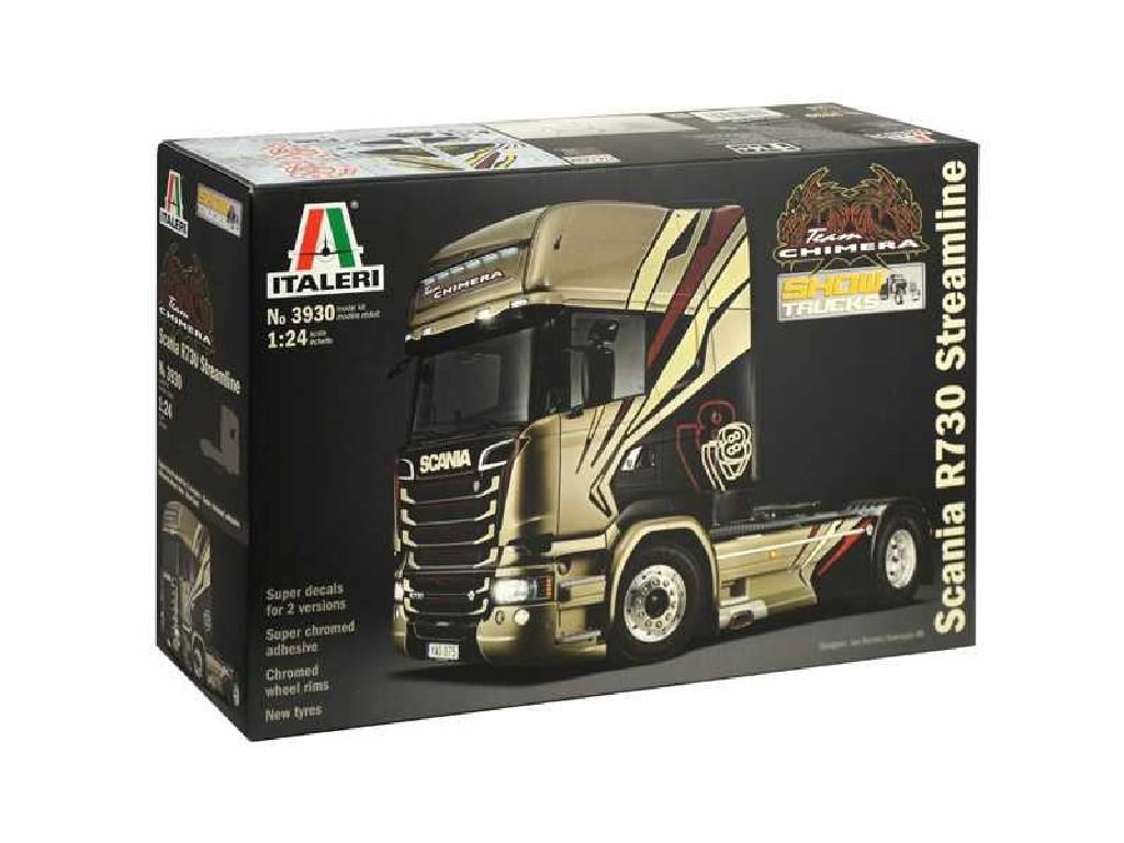1/24 Plastikový model - truck 3930 - SCANIA R730 STREAMLINE TEAM CHIMERA