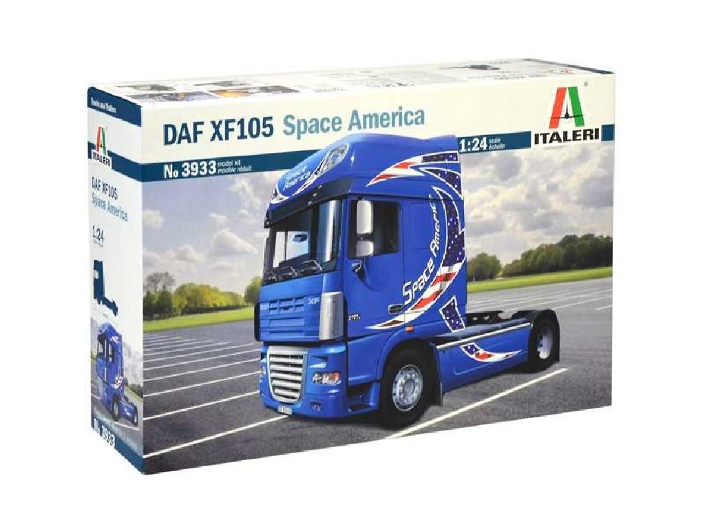 1/24 Plastikový model - truck 3933 - DAF XF105 Space America