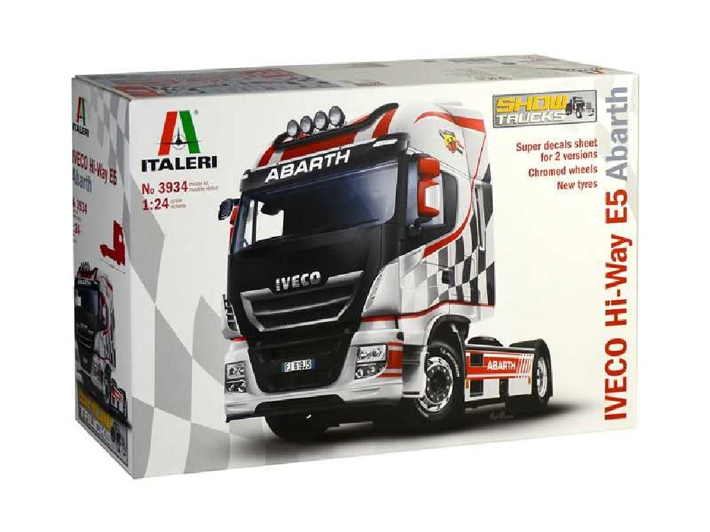 1/24 Plastikový model - truck 3934 - IVECO HI-WAY E5 ABARTH