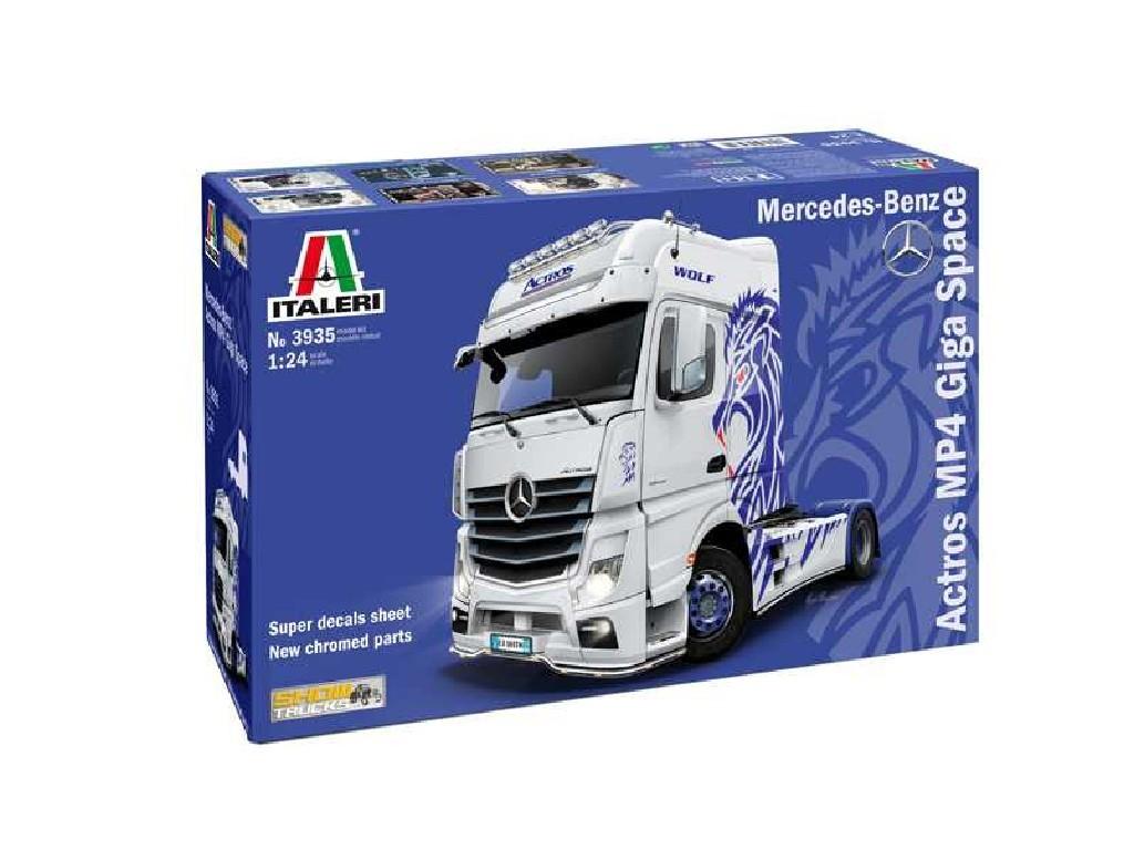 1/24 Plastikový model - truck 3935 - Mercedes-Benz ACTROS MP4 Giga Space