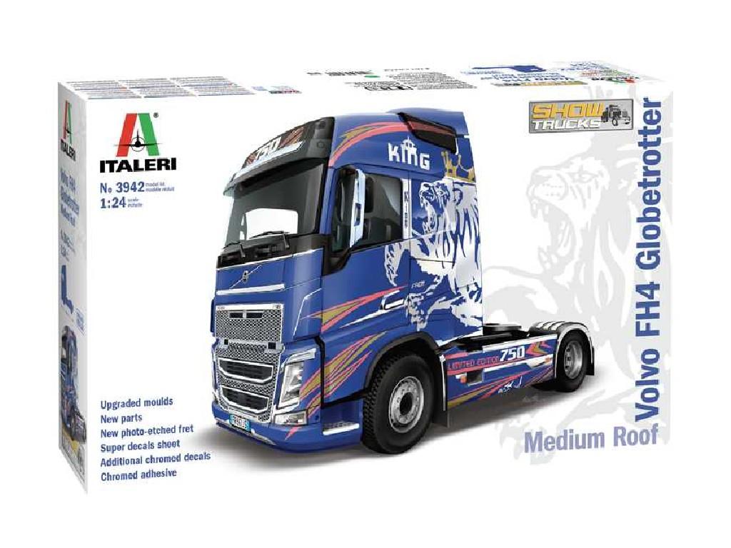 1/24 Plastikový model - truck 3942 - VOLVO FH4 Globetrotter Medium Roof