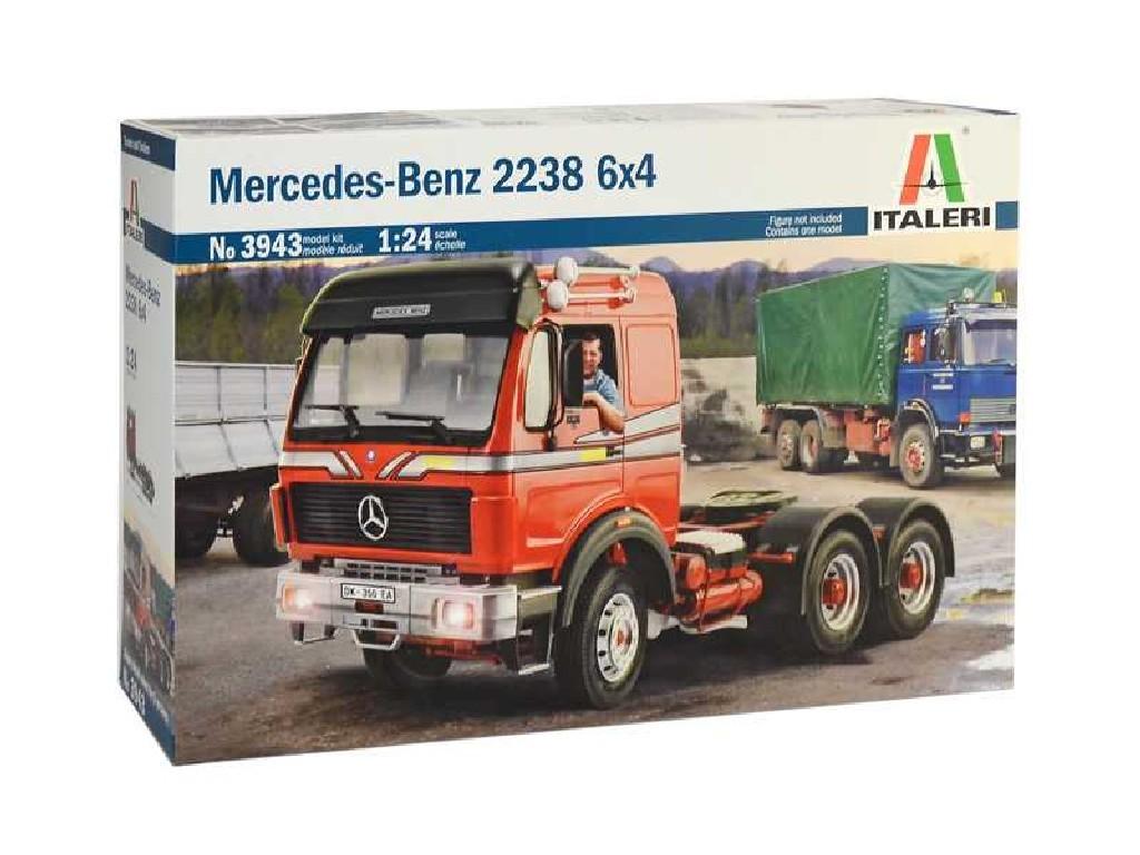 1/24 Plastikový model - truck 3943 - Mercedes-Benz 2238 6x4