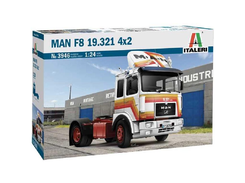 1/24 Plastikový model - truck 3946 - MAN F8 19.321 4x2
