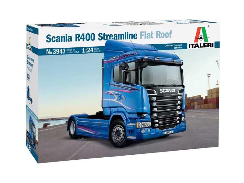 1/24 Plastikový model - truck 3947 - SCANIA R400 STREAMLINE Flat Roof