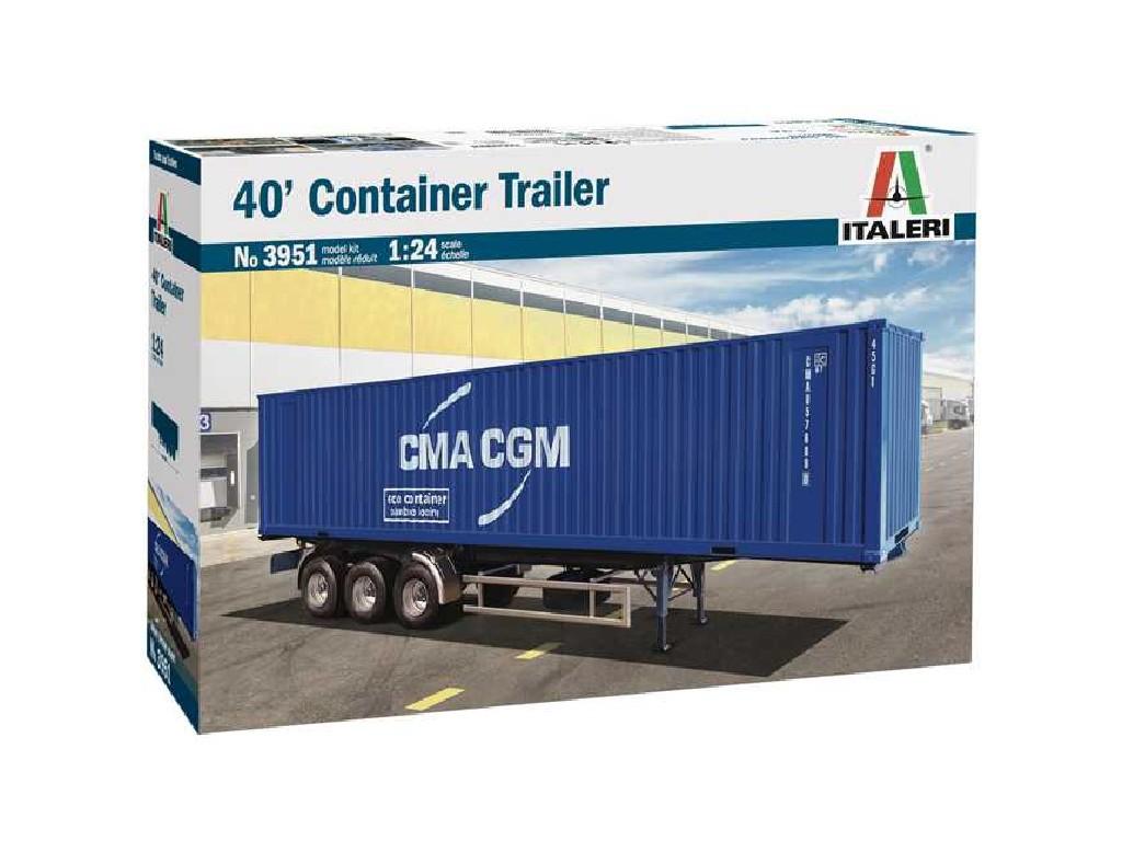 1/24 Plastikový model - truck 3951 - 40' Container Trailer