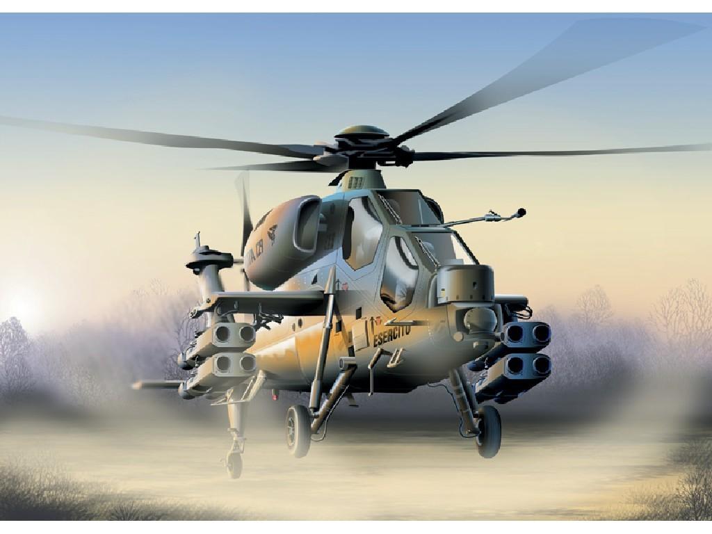 1/72 Plastikový model - vrtuľník 0006 - A-129 MANGUSTA