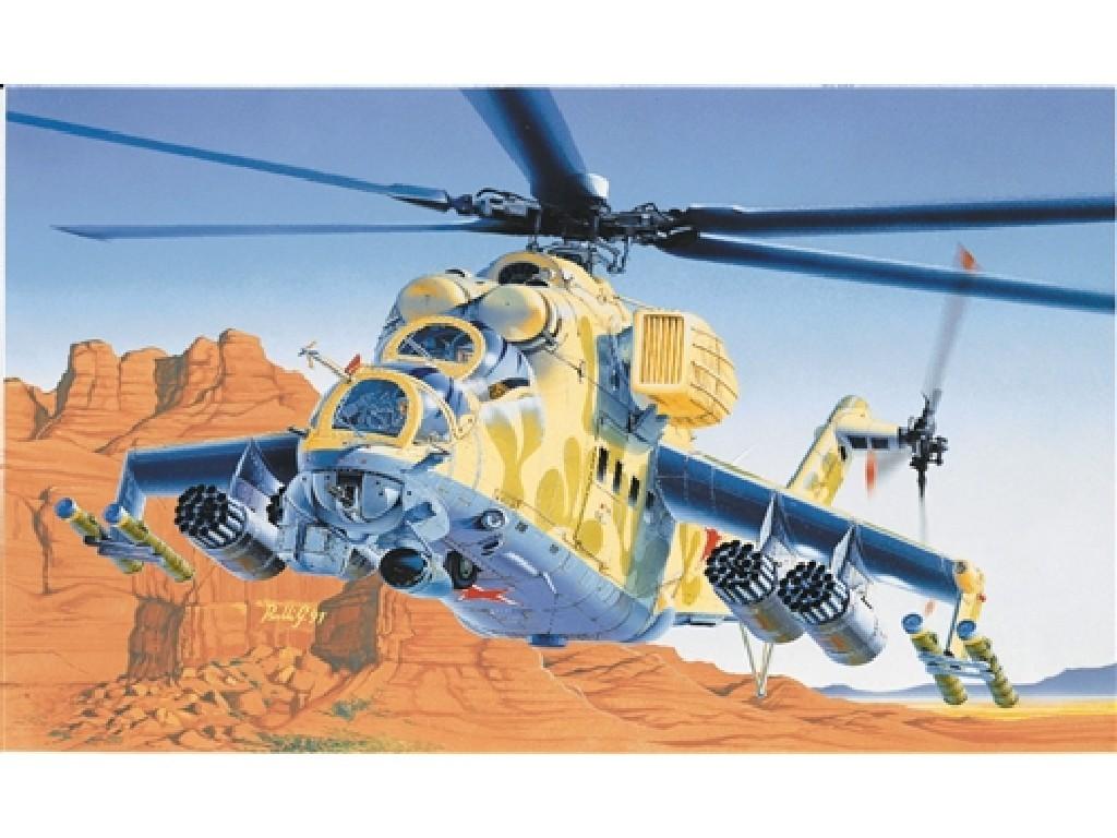 1/72 Plastikový model - vrtuľník 0014 - MIL-24 HIND D/E