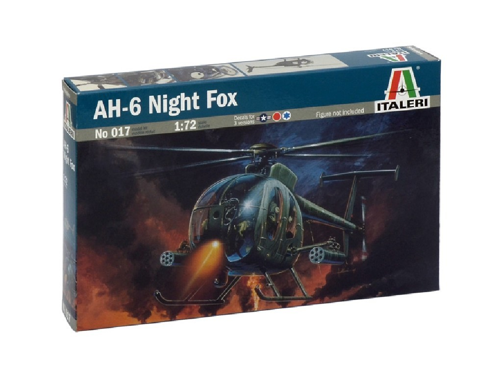 1/72 Plastikový model - vrtuľník 0017 - AH-6 NIGHT FOX