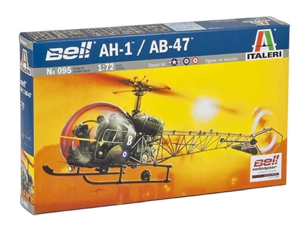 1/72 Plastikový model - vrtuľník 0095 - AH-1/AB-47