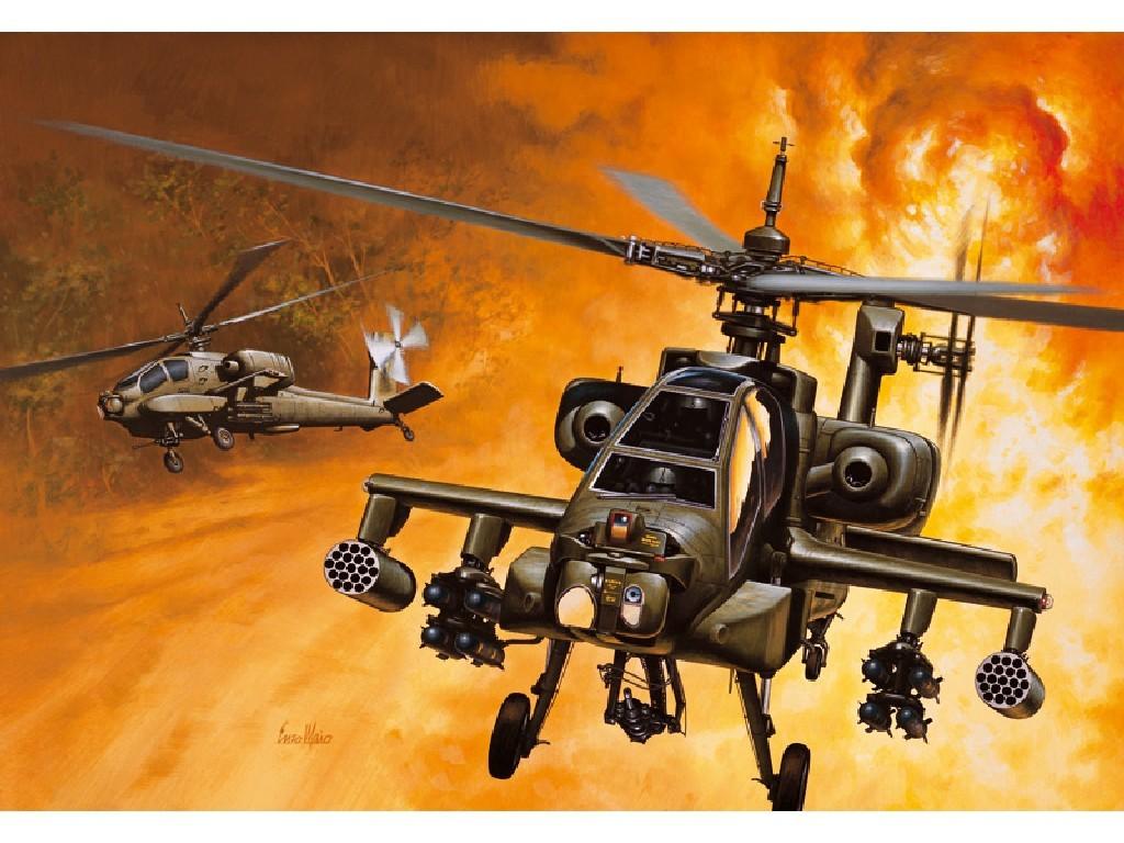 1/72 Plastikový model - vrtuľník 0159 - AH-64A APACHE