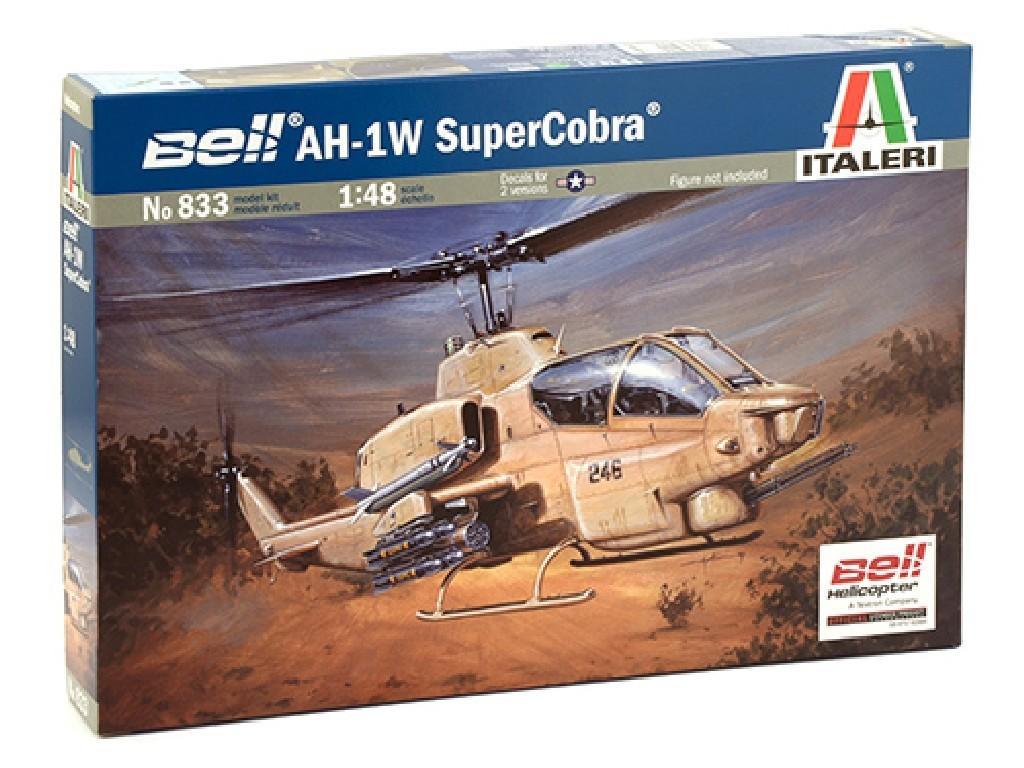 1/48 Plastikový model - vrtuľník 0833 - AH-1W SUPERCOBRA